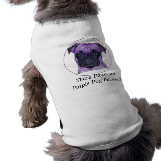These Paws are Purple Pug Powered Sleeveless Dog Shirt
