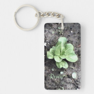 These Quiet Seasons April Bok Choy Double-Sided Rectangular Acrylic Key Ring