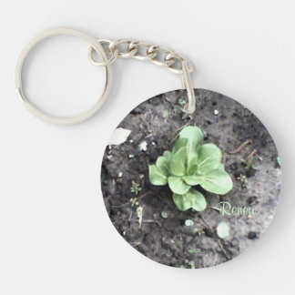 These Quiet Seasons April Bok Choy Double-Sided Round Acrylic Key Ring