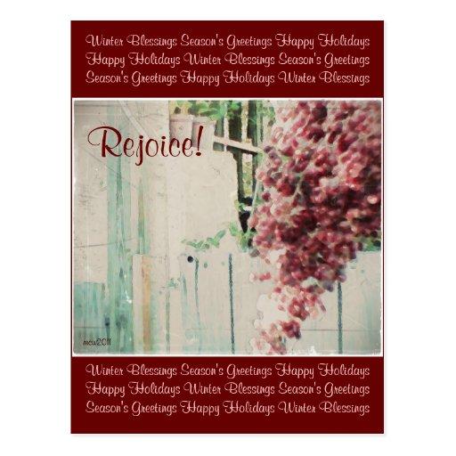 These Quiet Seasons December Berries Postcards