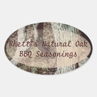 These Quiet Seasons January Oak Handmade Label Oval Sticker