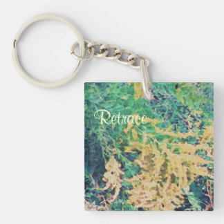 These Quiet Seasons September Wildflowers Double-Sided Square Acrylic Key Ring