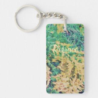 These Quiet Seasons September Wildflowers Single-Sided Rectangular Acrylic Key Ring