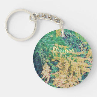 These Quiet Seasons September Wildflowers Single-Sided Round Acrylic Key Ring