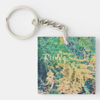 These Quiet Seasons September Wildflowers Single-Sided Square Acrylic Key Ring