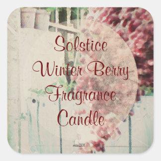 These Quiet Seasons Wild Winter Berries Handmade Square Stickers