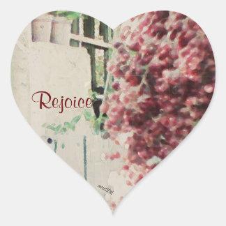 These Quiet Seasons Wild Winter Berries Heart Sticker