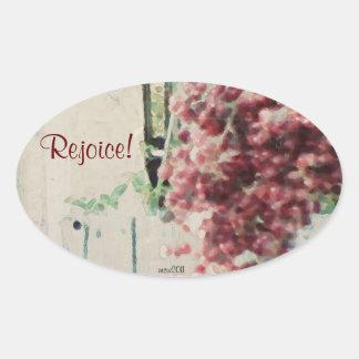 These Quiet Seasons Wild Winter Berries Oval Sticker