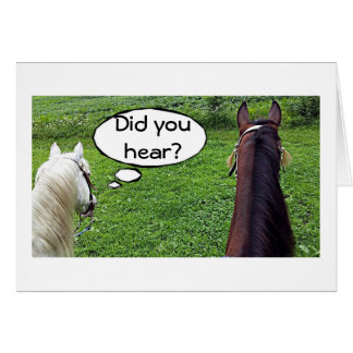 """THESE TWO HORSES CAN'T BELIEVE """"YOU ARE 40"""" GREETING CARD"""