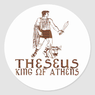 Theseus Classic Round Sticker