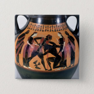 Theseus Fighting the Minotaur 15 Cm Square Badge