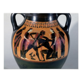 Theseus Fighting the Minotaur Poster