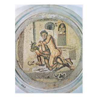 Theseus wrestling with the Minotaur Postcard