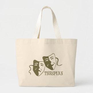thespian light od green jumbo tote bag