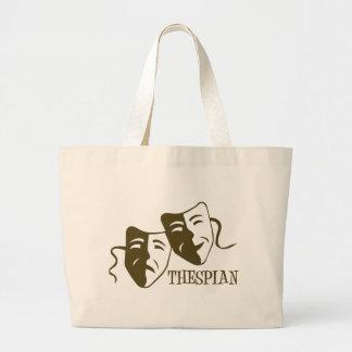 thespian od green jumbo tote bag