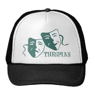 thespian teal gradient cap