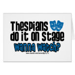 Thespians Do It On Stage
