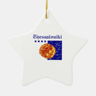 Thessaloniki City Designs Ceramic Star Decoration