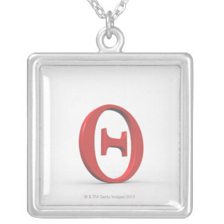 Theta 2 silver plated necklace