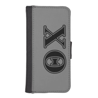 Theta Chi Black Letters iPhone SE/5/5s Wallet Case