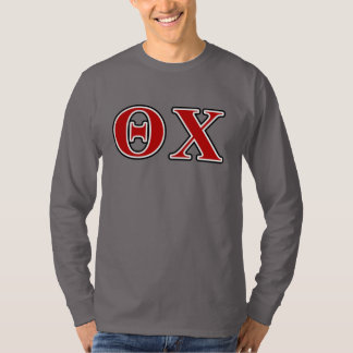 Theta Chi Red and Black Letters T-Shirt