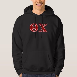 Theta Chi Red Letters Hoodie