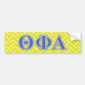 Theta Phi Alpha Blue Letters Bumper Sticker