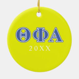 Theta Phi Alpha Blue Letters Christmas Ornament