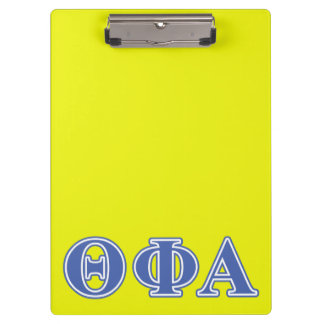 Theta Phi Alpha Blue Letters Clipboard