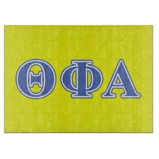 Theta Phi Alpha Blue Letters Cutting Board