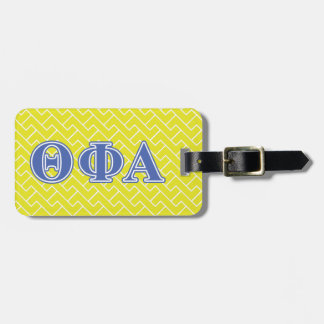 Theta Phi Alpha Blue Letters Luggage Tag