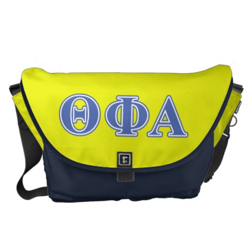 Theta Phi Alpha Blue Letters Courier Bags