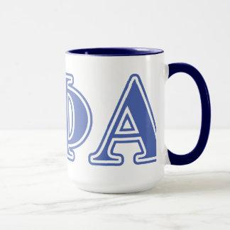 Theta Phi Alpha Blue Letters Mug