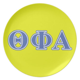 Theta Phi Alpha Blue Letters Plate