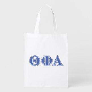 Theta Phi Alpha Blue Letters Market Totes