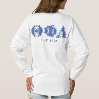 Theta Phi Alpha Blue Letters Spirit Jersey