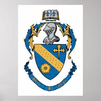 Theta Phi Alpha Coat of Arms Print