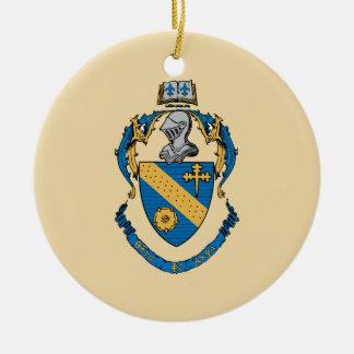 Theta Phi Alpha Coat of Arms Round Ceramic Decoration