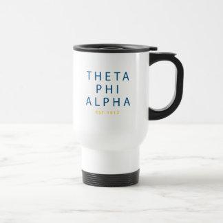 Theta Phi Alpha Modern Type Travel Mug