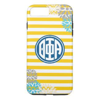 Theta Phi Alpha   Monogram Stripe Pattern iPhone 8 Plus/7 Plus Case