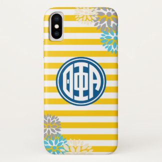 Theta Phi Alpha | Monogram Stripe Pattern iPhone X Case