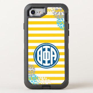 Theta Phi Alpha | Monogram Stripe Pattern OtterBox Defender iPhone 7 Case