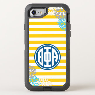Theta Phi Alpha | Monogram Stripe Pattern OtterBox Defender iPhone 8/7 Case