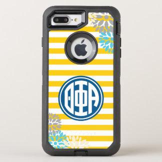 Theta Phi Alpha | Monogram Stripe Pattern OtterBox Defender iPhone 8 Plus/7 Plus Case