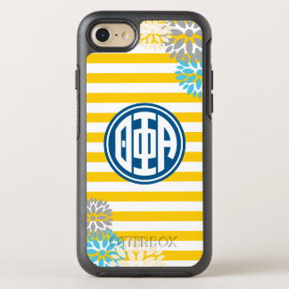 Theta Phi Alpha | Monogram Stripe Pattern OtterBox Symmetry iPhone 8/7 Case