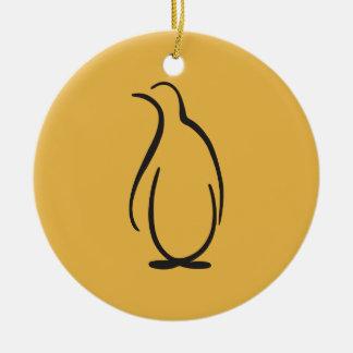 Theta Phi Alpha Penguin Logo Round Ceramic Decoration
