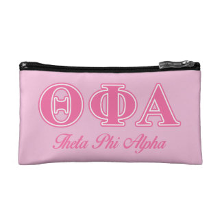 Theta Phi Alpha Pink Letters Cosmetic Bag