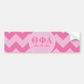 Theta Phi Alpha Pink Letters Bumper Sticker