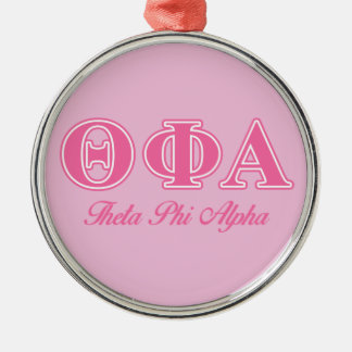 Theta Phi Alpha Pink Letters Christmas Ornament