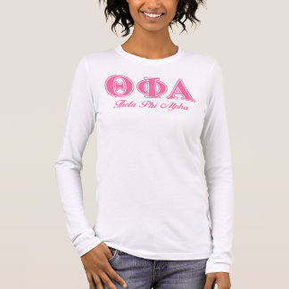 Theta Phi Alpha Pink Letters Long Sleeve T-Shirt